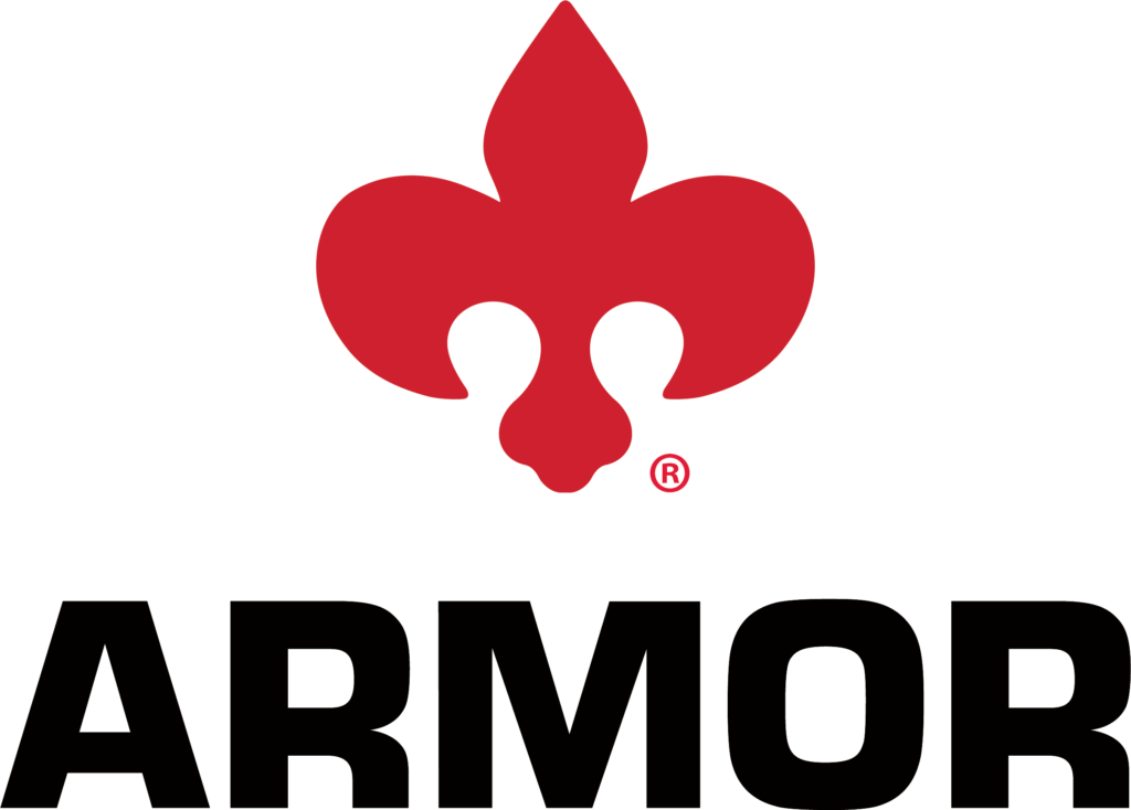 Armor 2020 Corporate Logo with Fleur-de-lis Transparent Background