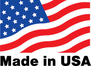 Made In USA Logo with American Flag Transparent Background